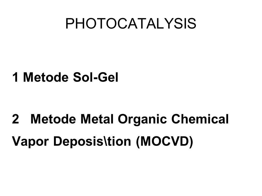 Metode sol-gel Sol merupakan suatu sistem yang memungkinkan bahan kimia padat tersuspensi stabil di dalam larutan, gel adalah cairan yang terjebak dalam jaringan partikel padat.