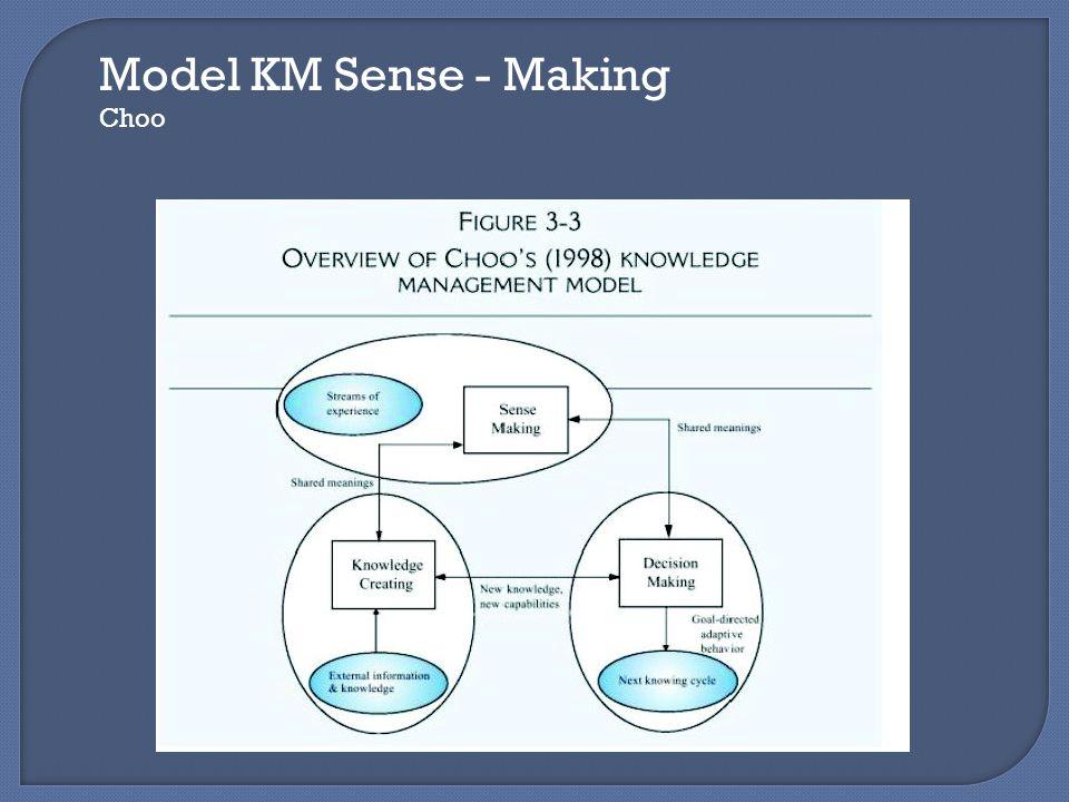 Model KM Sense - Making Choo