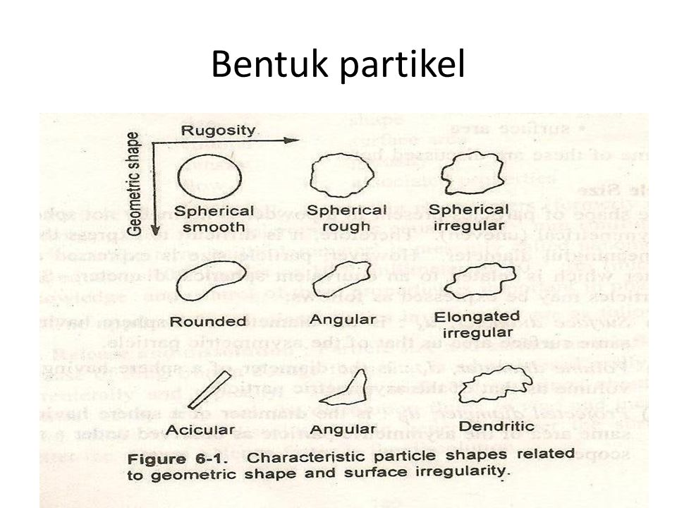 Bentuk partikel
