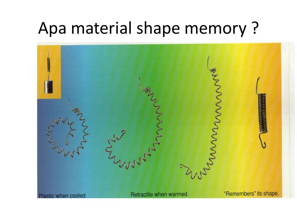 Apa material shape memory ?