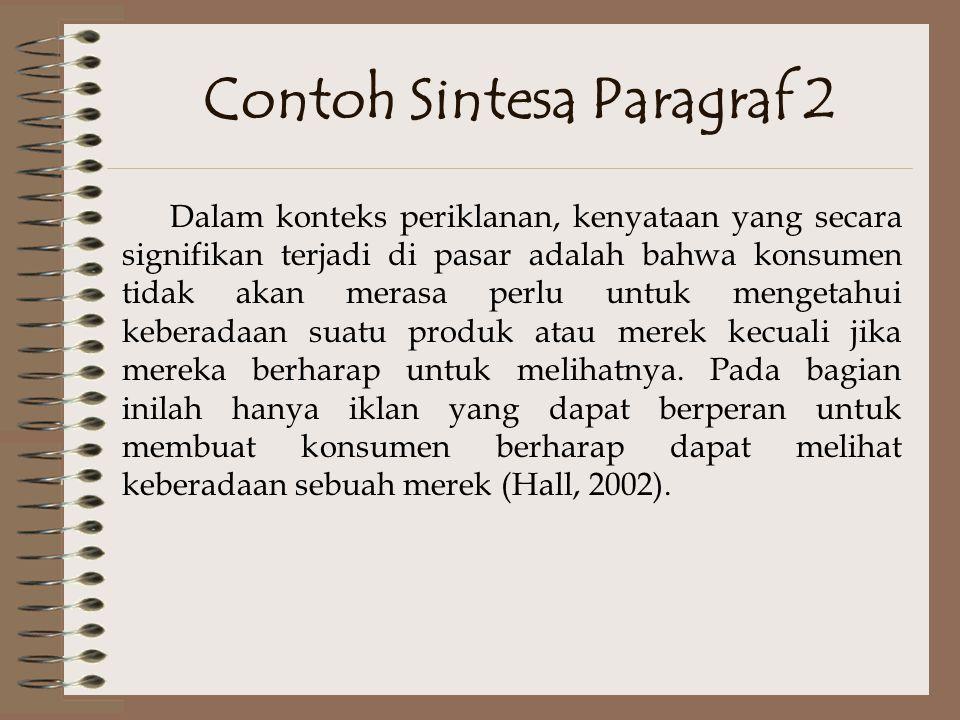 Contoh Sintesa Analisis Diakronik Iklan-iklan Enam Merek di Femina Tahun 1975-2002 Terence A.