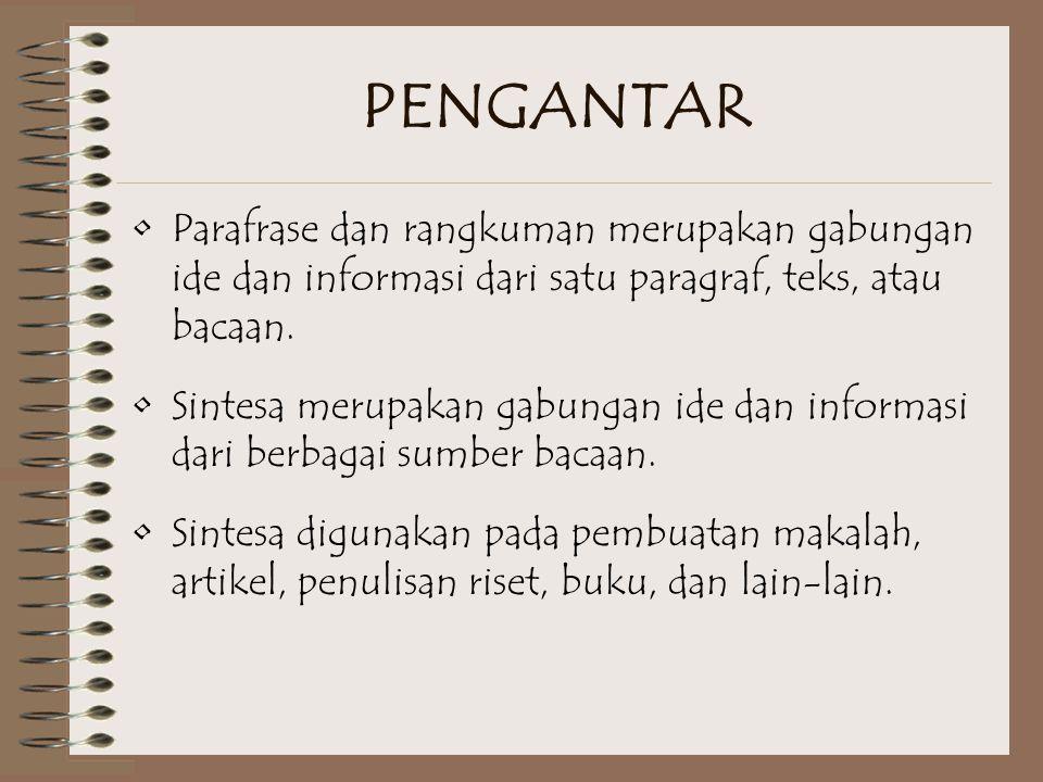 Contoh Sintesa Paragraf 4 Iklan merupakan suau bentuk komunikasi massa.