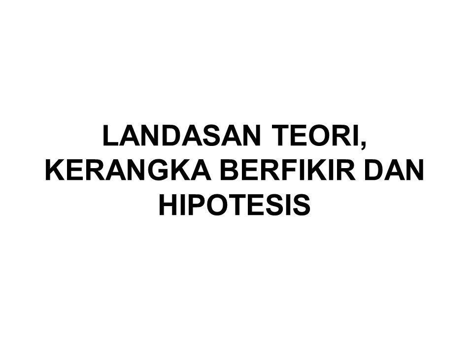 LANDASAN TEORI, KERANGKA BERFIKIR DAN HIPOTESIS