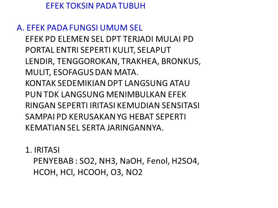 Bab 9 EFEK TOKSIN PADA TUBUH A.