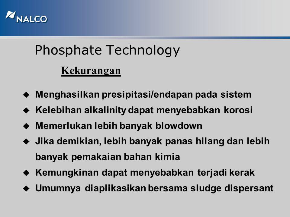 Phosphate Technology Kelebihan u Mudah dimonitor dan dikontrol u Tidak memerlukan air umpan dengan kemurnian tinggi u Dapat diaplikasikan pada boiler
