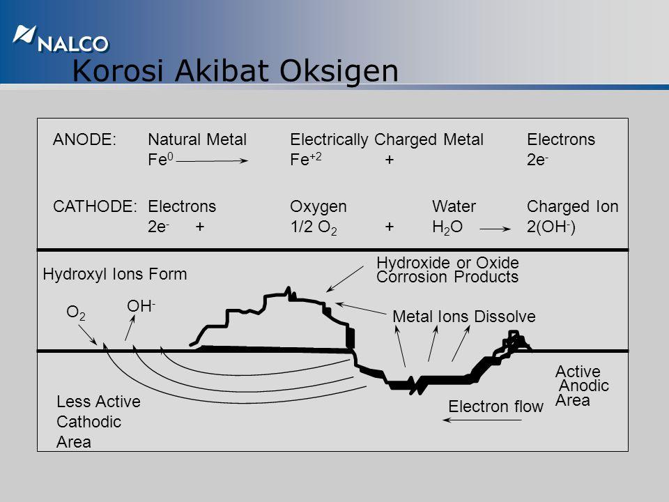 Korosi Akibat Oksigen Oksigen yang terlarut di air merupakan materi dasar terjadinya reaksi di katoda