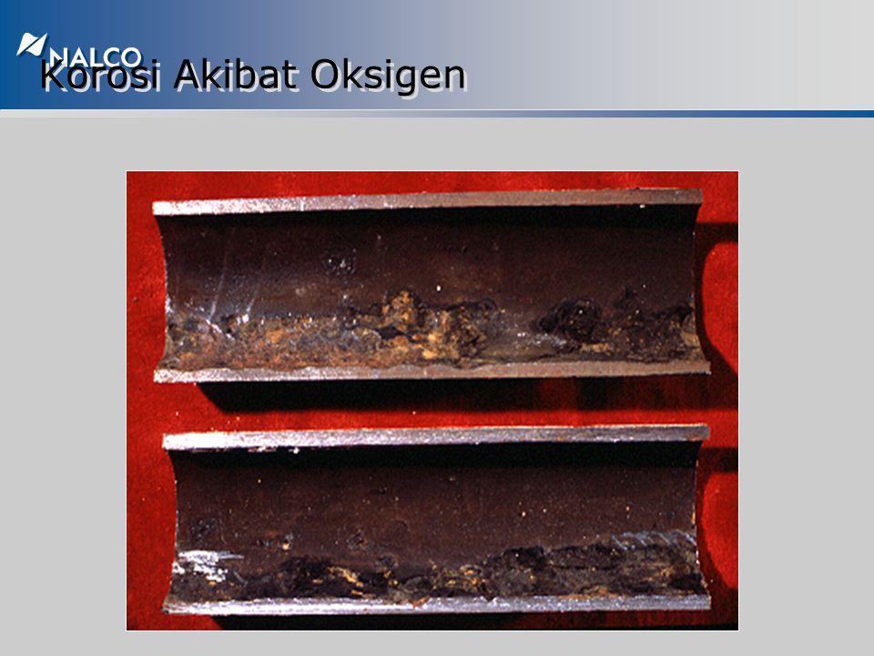 Korosi akibat Oksigen/Oxygen Corrosion u Dapat terjadi pada sepanjang sistem u Mekanisme sama seperti sel korosi akibat oksigen u Mekanisme korosi dip
