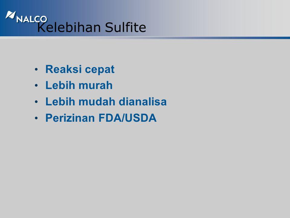 Sodium Sulfite - Inorganic Oxygen Scavenger 2Na 2 SO 3 + O 2 -------> 2Na 2 SO 4 8,6 ppm per 1 ppm oxygen terlarut Pada temperatur kamar sodium sulfit