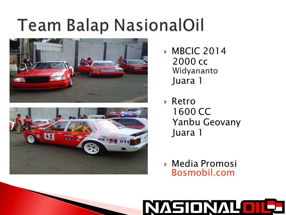  MBCIC 2014 2000 cc Widyananto Juara 1  Retro 1600 CC Yanbu Geovany Juara 1  Media Promosi Bosmobil.com 