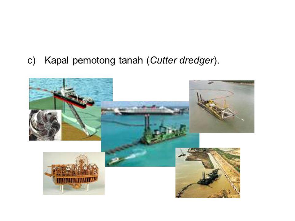 c)Kapal pemotong tanah (Cutter dredger).