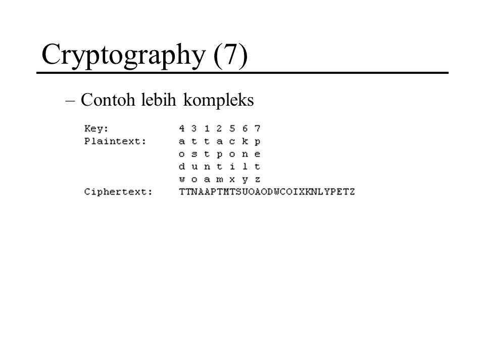 Cryptography (7) –Contoh lebih kompleks