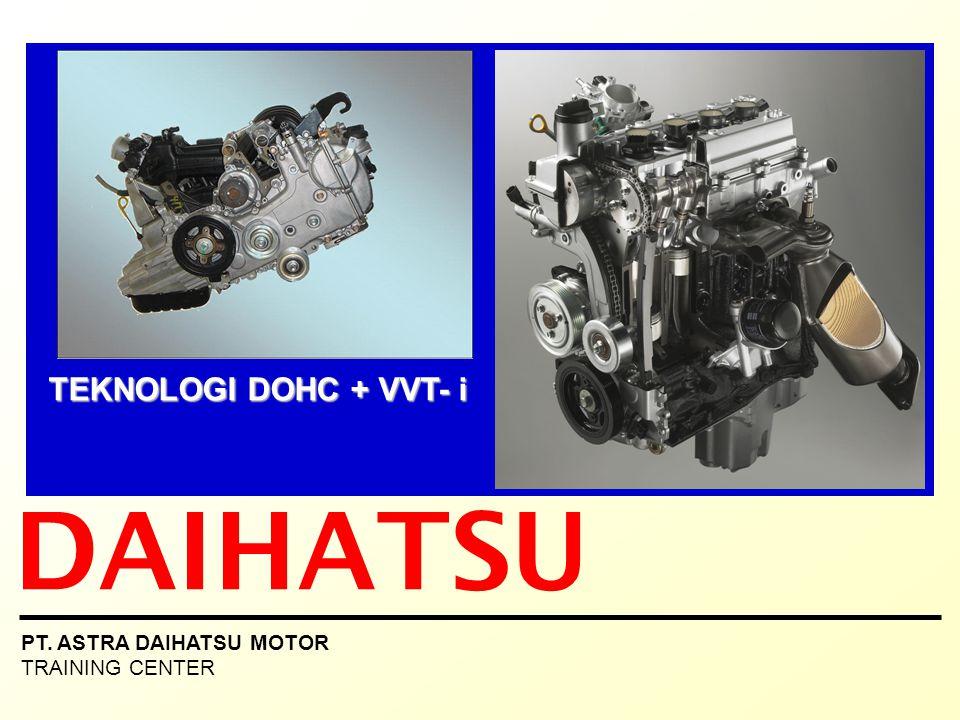ISI PRESENTASI 1.Latar belakang teknologi DOHC 2.Mesin 4 langkah 3.Mekanisme katup Valve timing - OHV (Over Head Valve) Sistem mekanisme katup OHV - SOHC (Single Over Head Camshaft) Sistem mekanisme katup SOHC - DOHC (Double Over Head Camshaft) - Sistem mekanisme katup DOHC - Kelebihan DOHC dibanding SOHC - DOHC dengan Variable Valve Timing (VVT-i) 4.