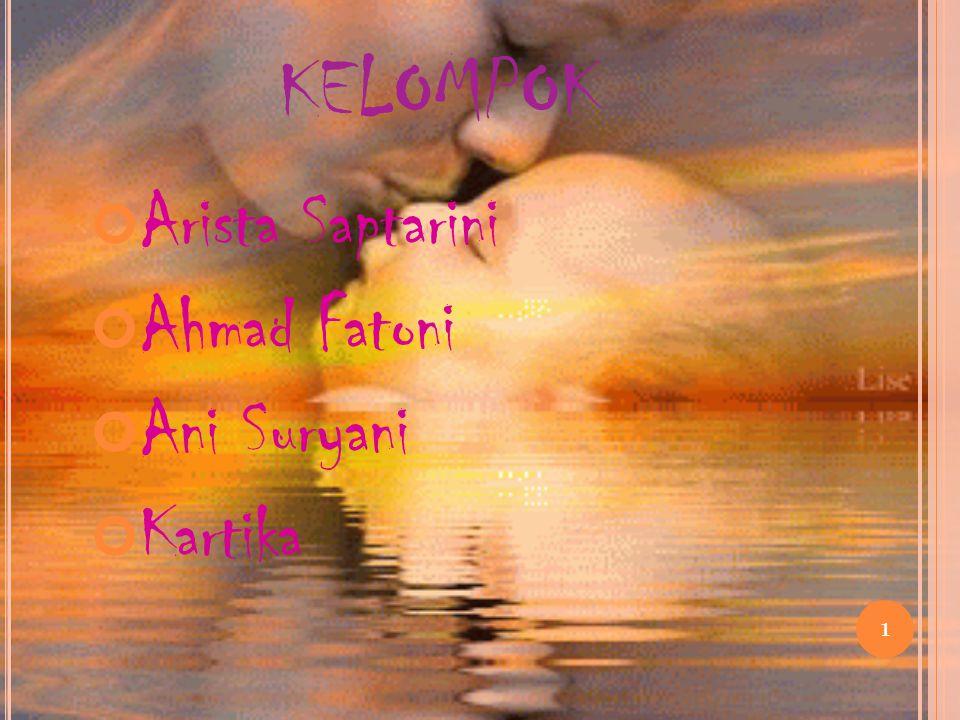 KELOMPOK Arista Saptarini Ahmad Fatoni Ani Suryani Kartika 1