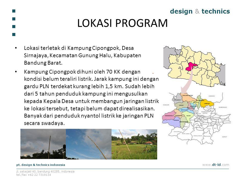 design & technics pt. design & technics indonesia www.dt-id.com jl. sekejati 40, bandung 40285, indonesia tel./fax +62 22 7319134 LOKASI PROGRAM Lokas