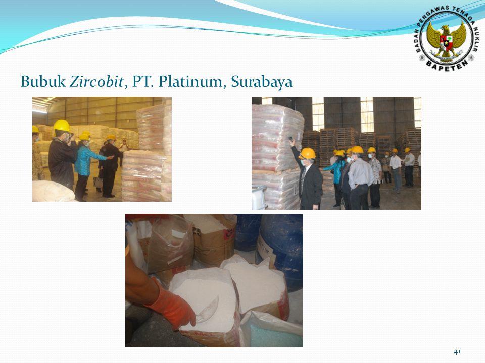 41 Bubuk Zircobit, PT. Platinum, Surabaya