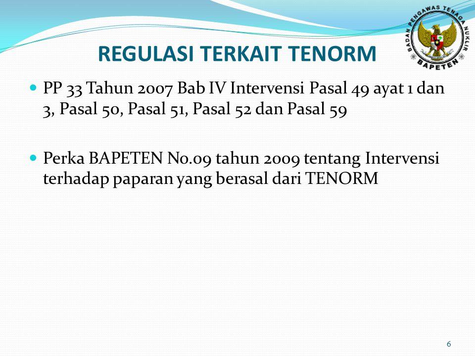 27 Produksi TENORM dalam Reservoir Minyak dan Gas