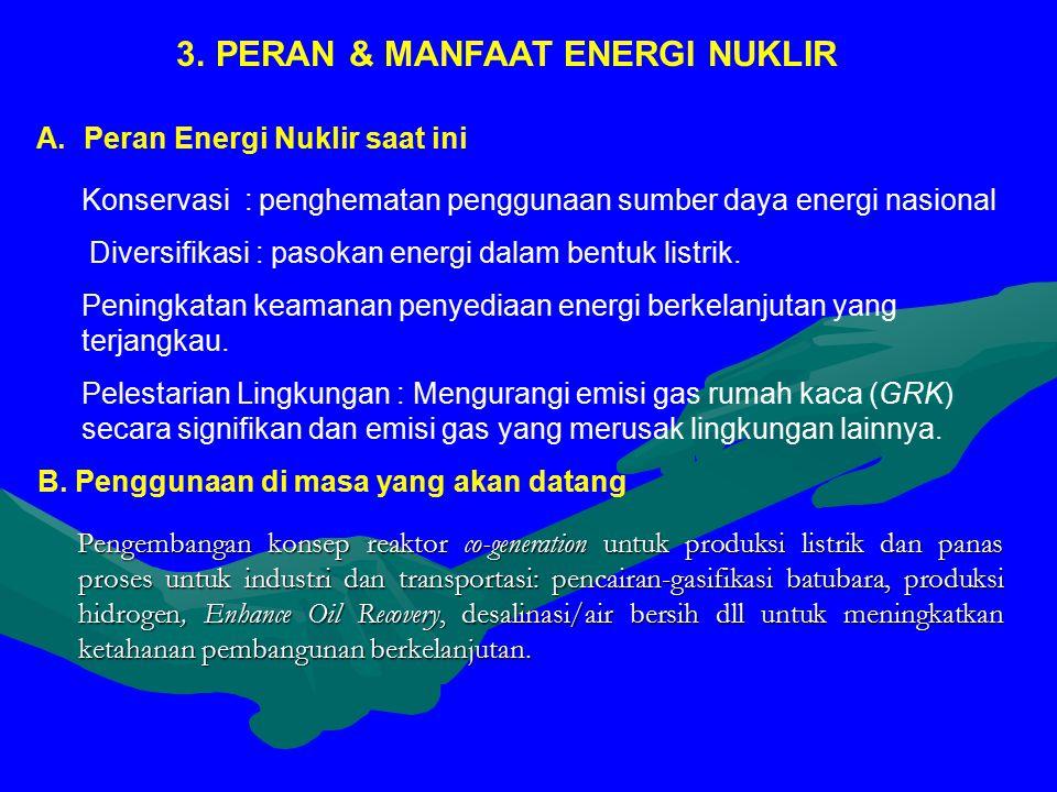Pengembangan konsep reaktor co-generation untuk produksi listrik dan panas proses untuk industri dan transportasi: pencairan-gasifikasi batubara, produksi hidrogen, Enhance Oil Recovery, desalinasi/air bersih dll untuk meningkatkan ketahanan pembangunan berkelanjutan.