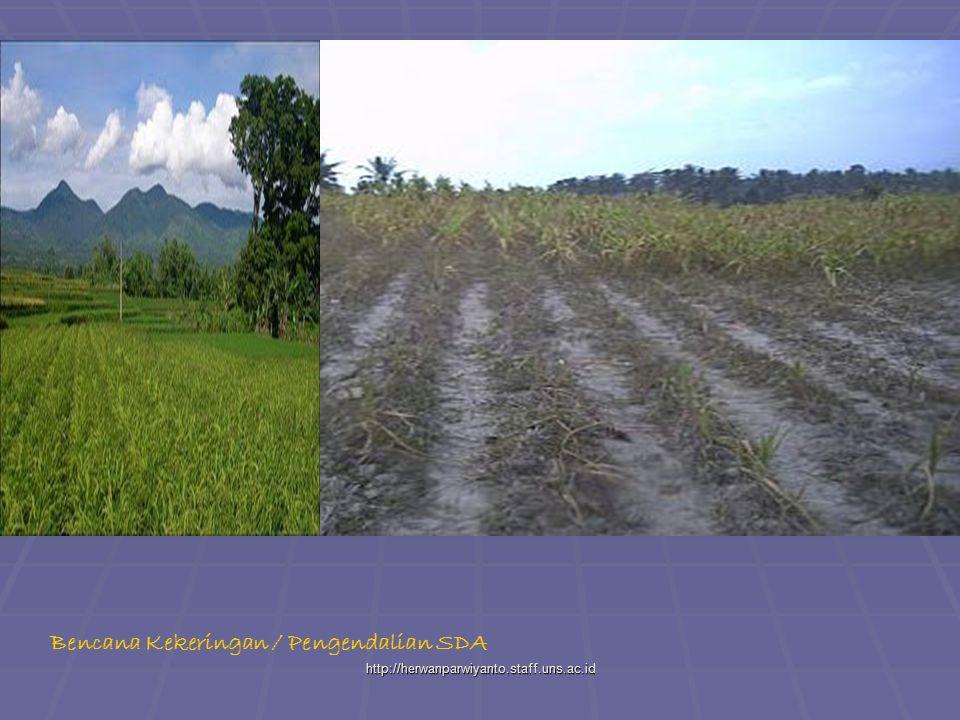 http://herwanparwiyanto.staff.uns.ac.id Bencana Kekeringan / Pengendalian SDA