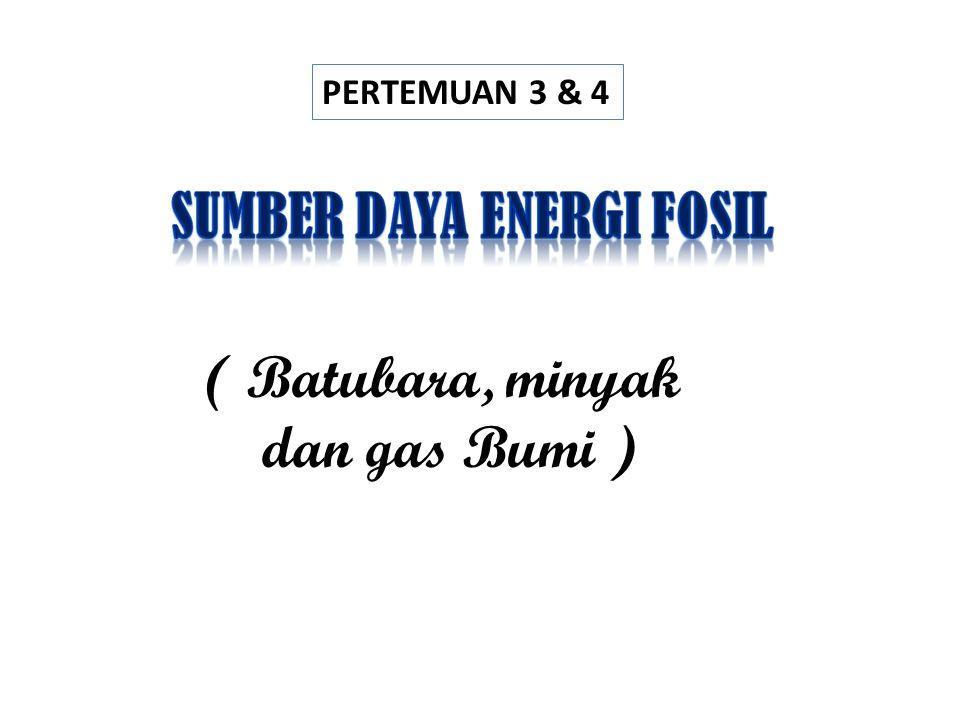 PERTEMUAN 3 & 4 ( Batubara, minyak dan gas Bumi )