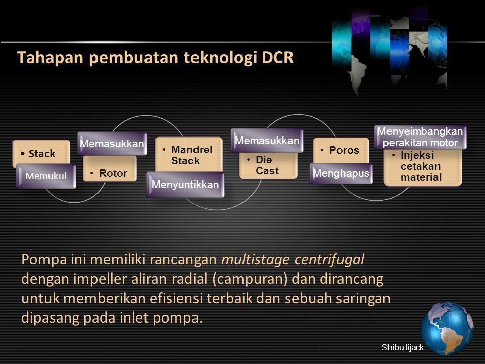 3.Pompa submersible 3,7 kW yang menggunakan teknologi DCR  Penggunaannya dengan teknologi Die Cast Rotor (DCR). Parameter utamanya yaitu efisiensi, t