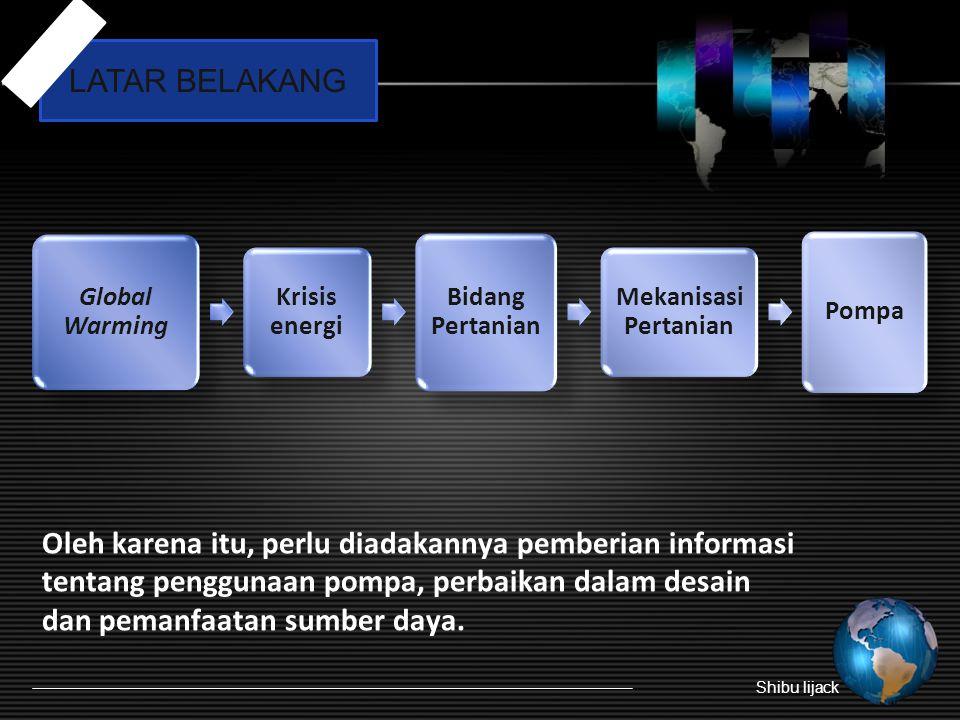 Oleh karena itu, perlu diadakannya pemberian informasi tentang penggunaan pompa, perbaikan dalam desain dan pemanfaatan sumber daya.