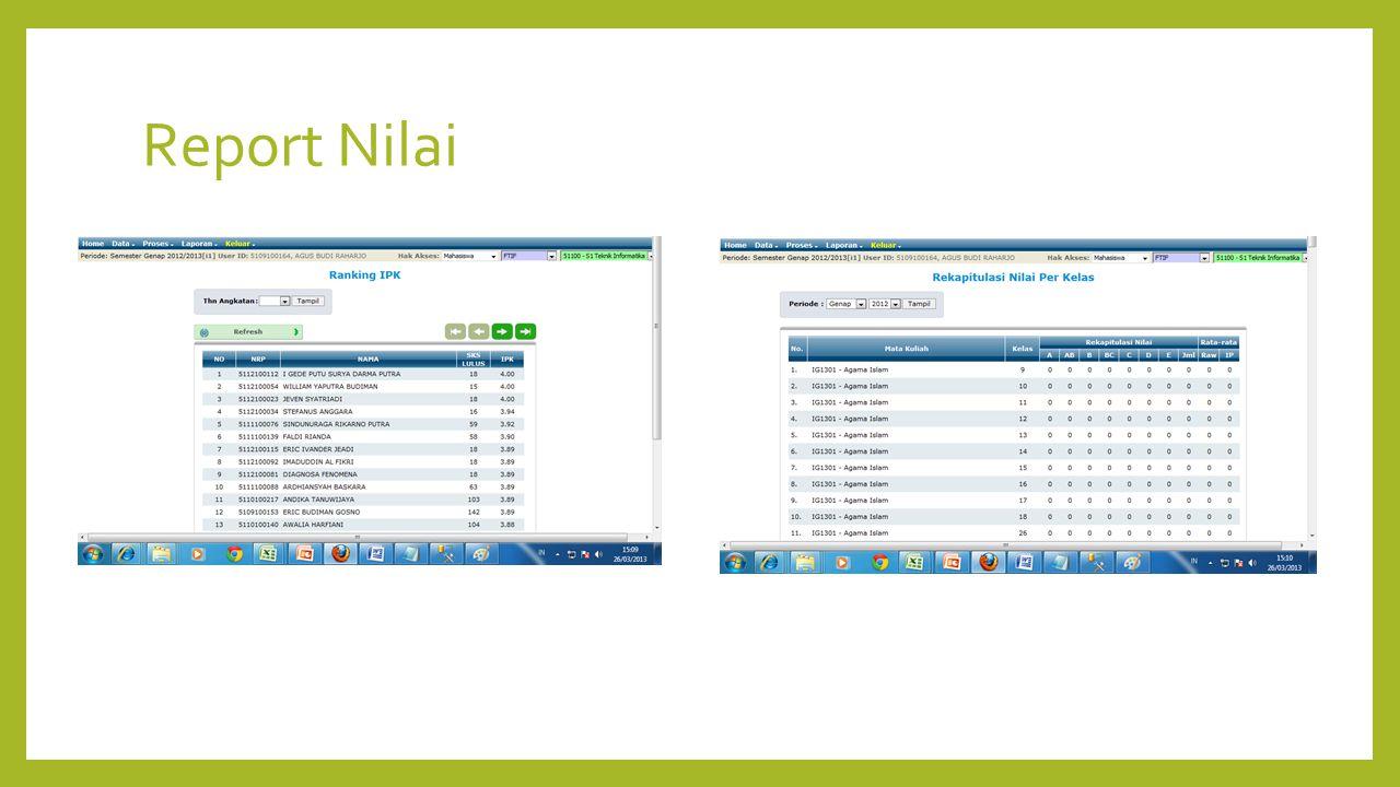 Report Nilai
