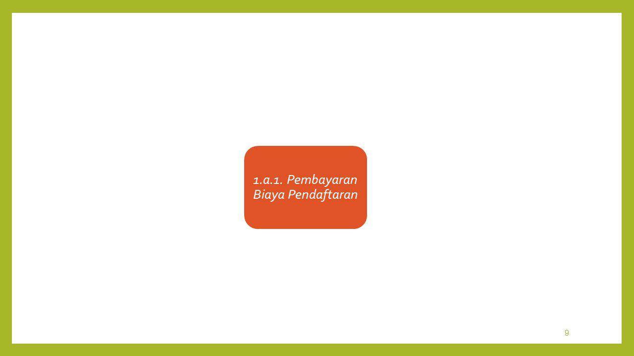 9 1.a.1. Pembayaran Biaya Pendaftaran