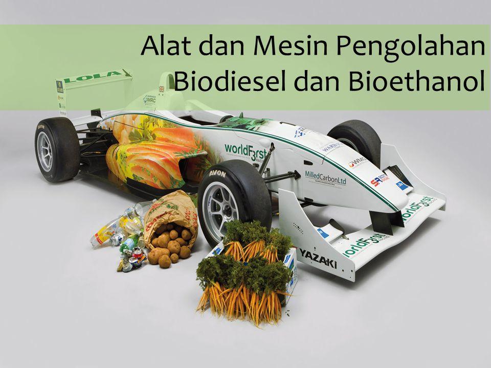Pengeringan Tujuan: menurunkan kadar air sampai 0.05 % Metode : - Pengering biasa - Pengering vakum - Pemanasan pada biodiesel yang dikabutkan