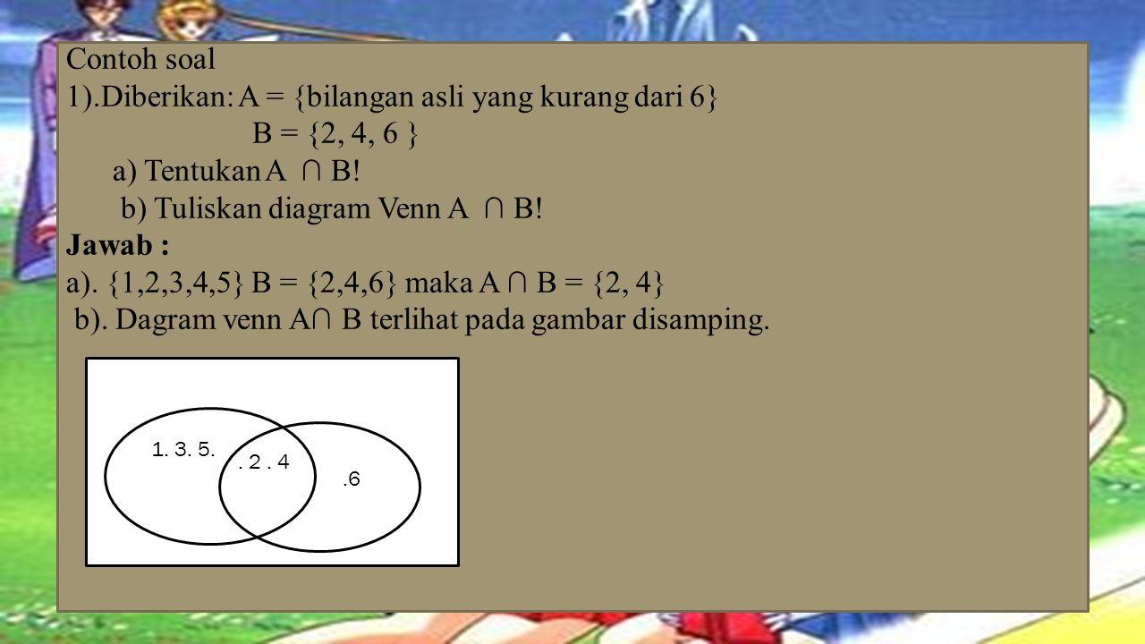B D f.. h.a.c.e.g Perhatikan dua himpunan dibawah ini. P = {a, b, c, d, e, f, g }, Q = {a, c, g, h, } Terlihat bahwa anggotapersekutuan P dan Q adalah