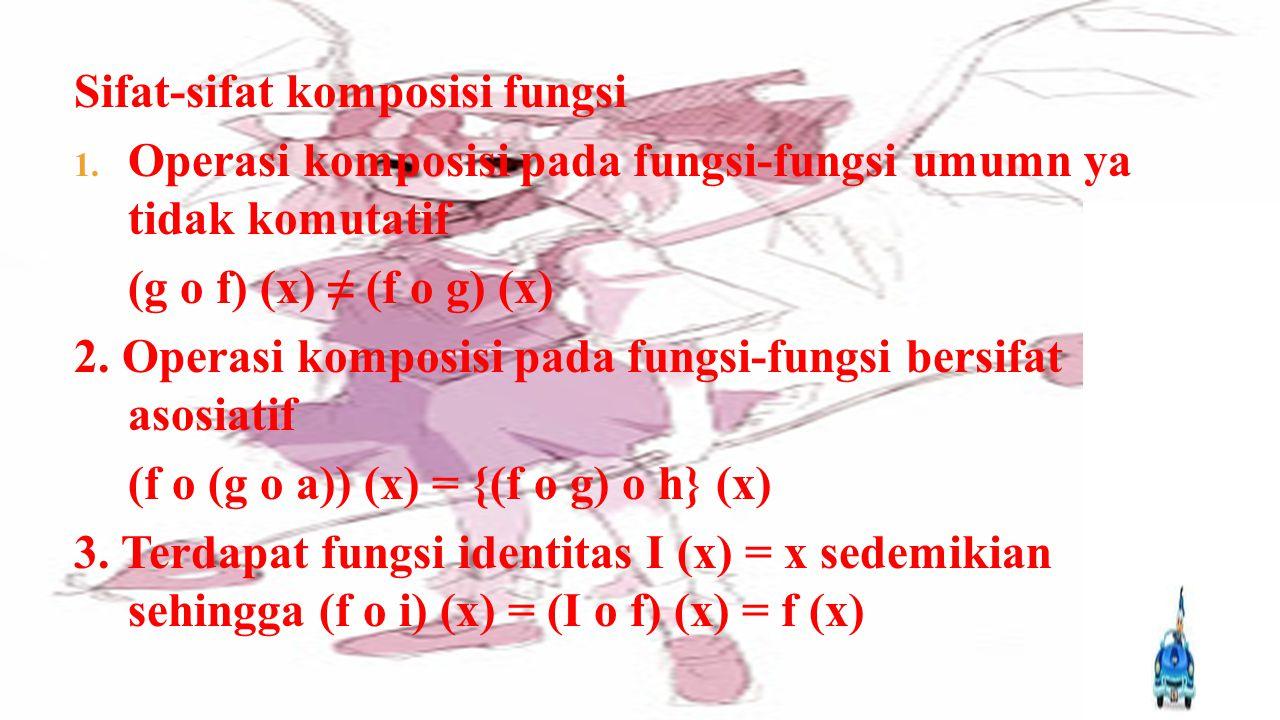  Pengertian Fungsi Komposisi Suatu fungsi dapat dikombinasikan atau digabungkan dengan fungsi lain, dengan syarat tertentu, sehingga menghasilkan fun