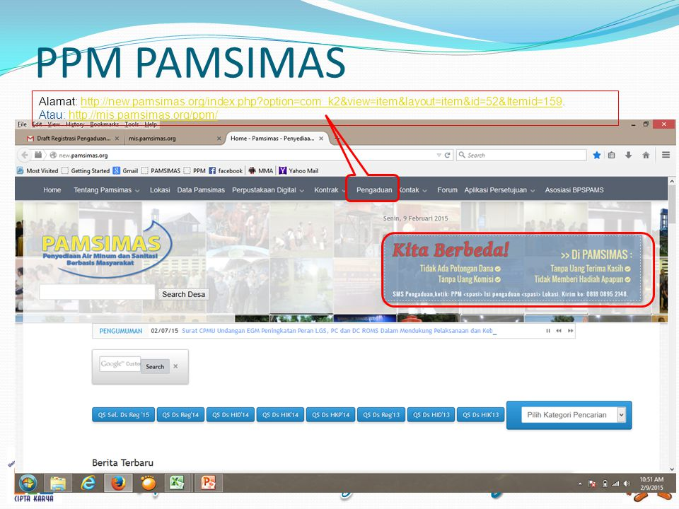 PPM PAMSIMAS Alamat: http://new.pamsimas.org/index.php?option=com_k2&view=item&layout=item&id=52&Itemid=159.http://new.pamsimas.org/index.php?option=c