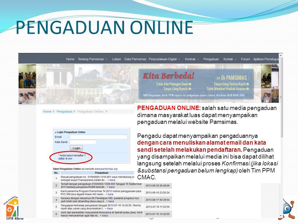 APLIKASI PPM PAMSIMAS Untuk dapat masuk ke dalam aplikasi PPM, user diharuskan login terlebih dahulu sesuai dengan username dan password yang telah diberikan oleh Tim MIS CMAC.