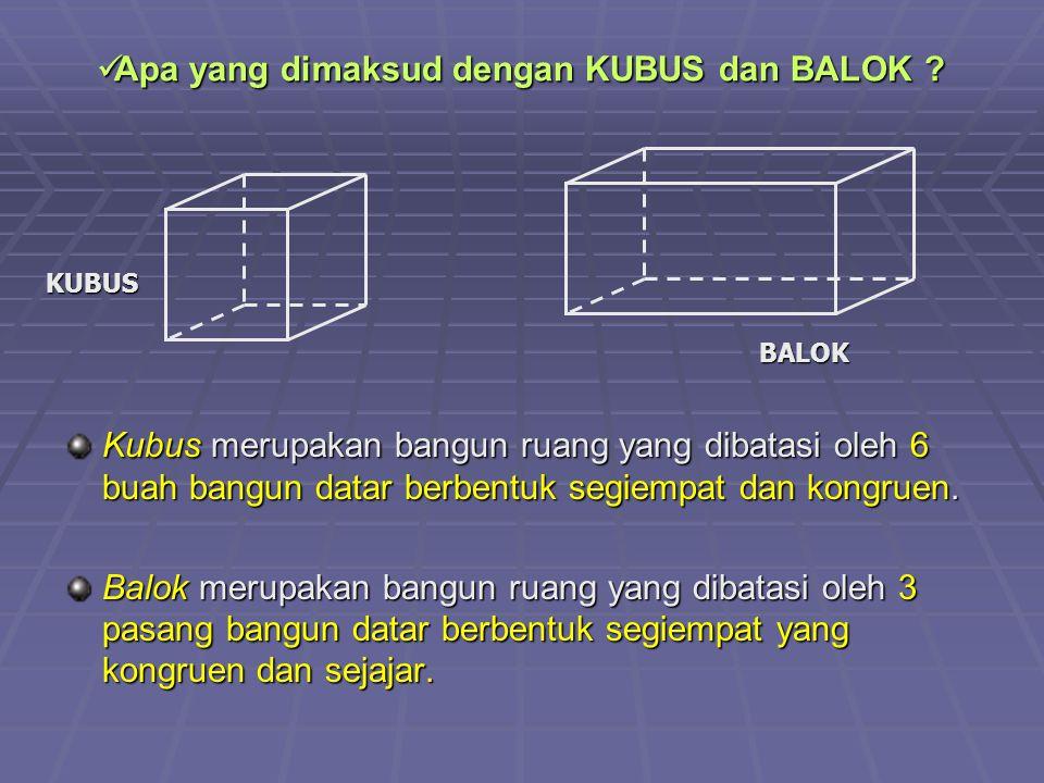 Apa yang dimaksud dengan KUBUS dan BALOK .Apa yang dimaksud dengan KUBUS dan BALOK .