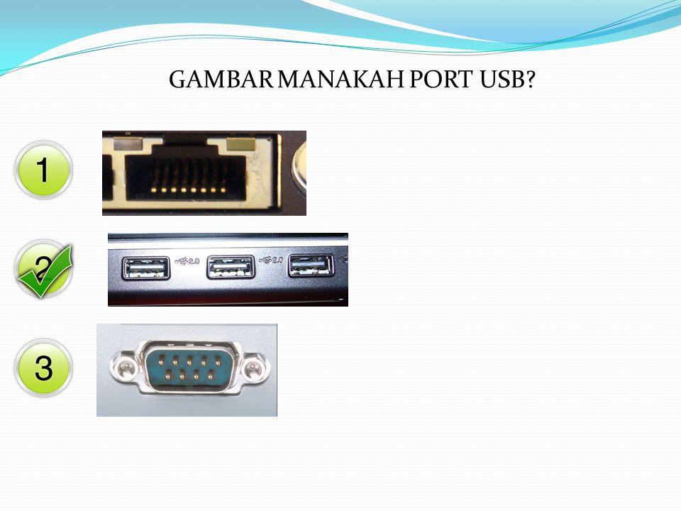 GAMBAR MANAKAH PORT USB?