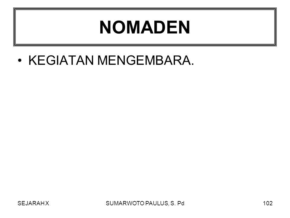 SEJARAH XSUMARWOTO PAULUS, S. Pd101 FOOD PRODUCING KEGIATAN MENGOLAH TANAH (MEMPRODUKSI MAKANAN).