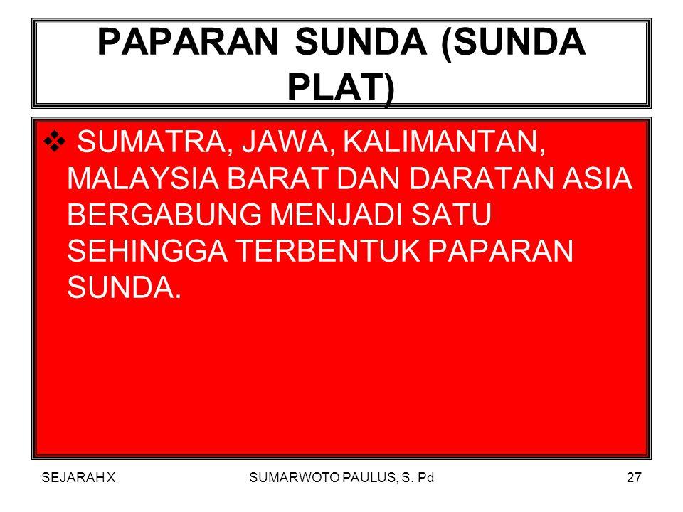 SEJARAH XSUMARWOTO PAULUS, S. Pd26  BANYAKNYA GUNUNG BERAPI AKTIF DI WILAYAH INDONESIA ANTARA LAIN BERAKIBAT BANYAKNYA LAUT INDONESIA MENGERING. SEHI