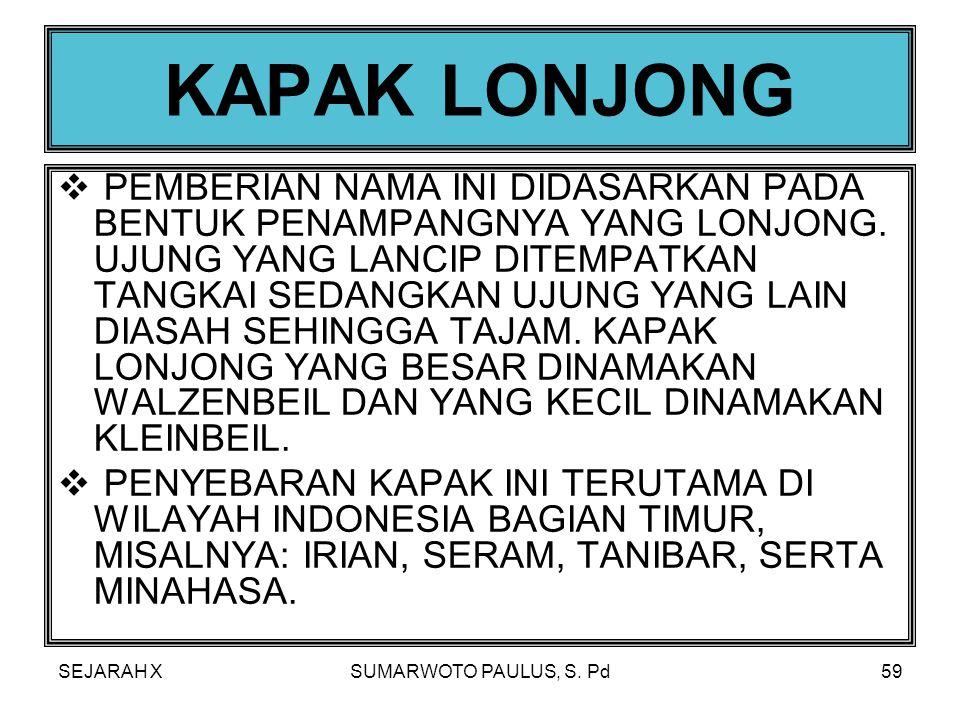 SEJARAH XSUMARWOTO PAULUS, S. Pd58  DAERAH PENYEBARAN KAPAK-KAPAK PERSEGI INI TERUTAMA DI INDONESIA BAGIAN BARAT, MISALNYA: DAERAH SUMATERA, JAWA DAN