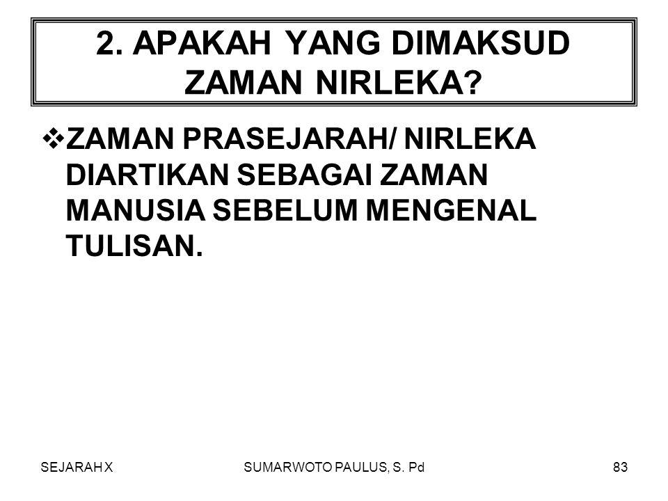 SEJARAH XSUMARWOTO PAULUS, S.Pd82 1.