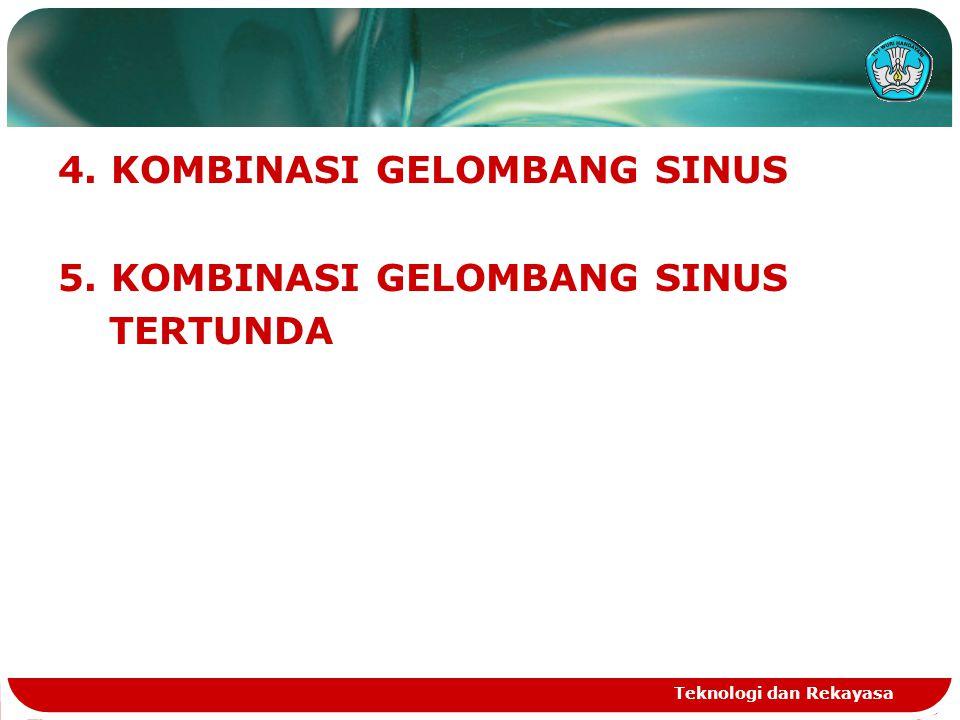 Teknologi dan Rekayasa 4. KOMBINASI GELOMBANG SINUS 5. KOMBINASI GELOMBANG SINUS TERTUNDA
