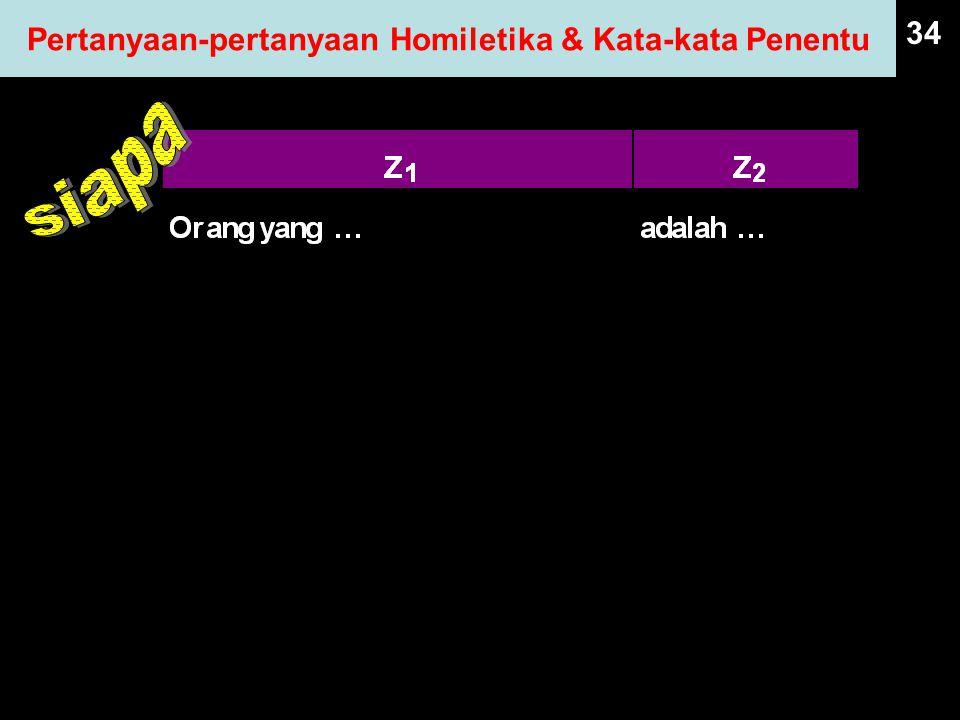 34 Pertanyaan-pertanyaan Homiletika & Kata-kata Penentu