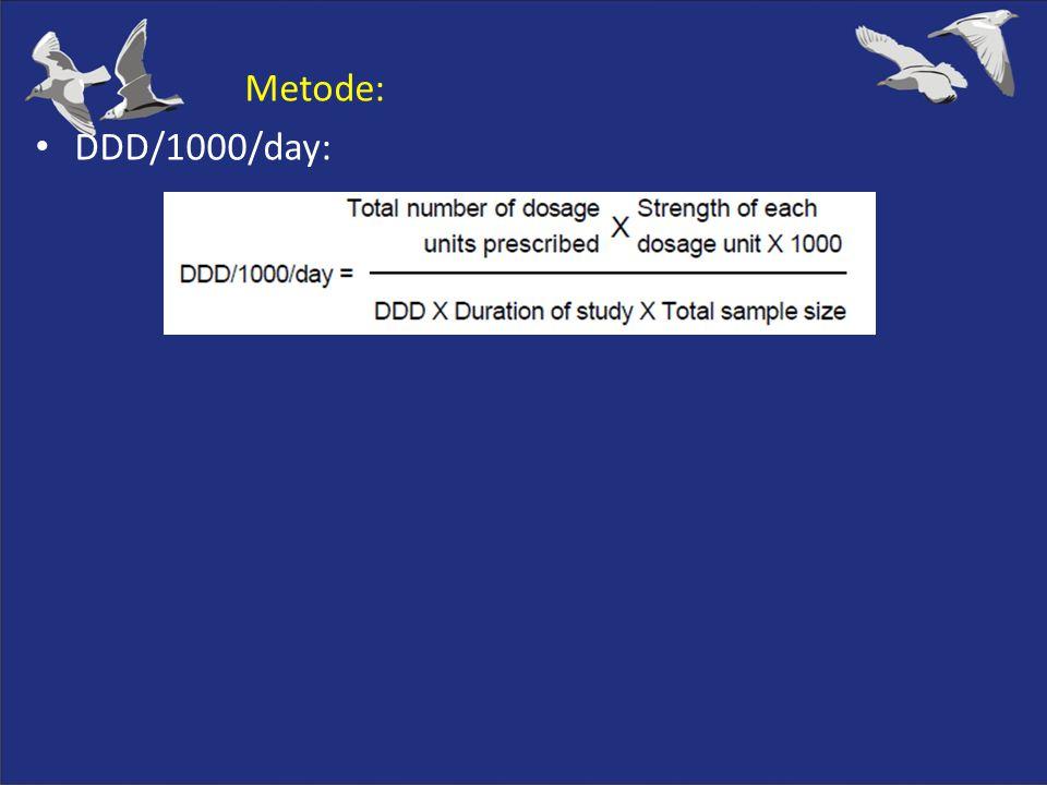 Metode: DDD/1000/day: