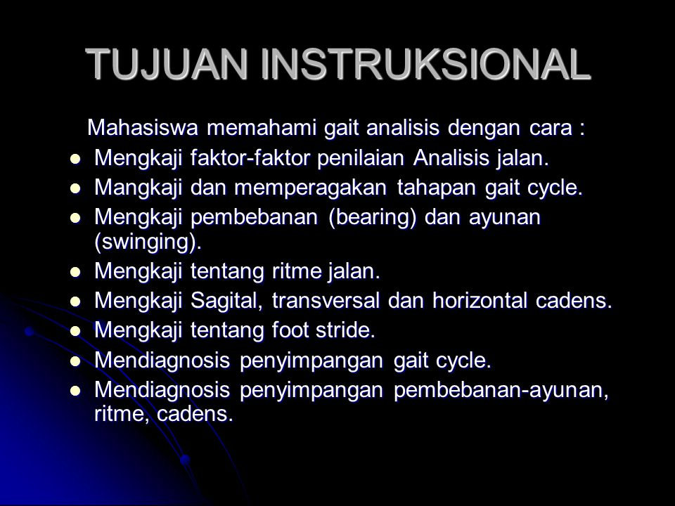 Gait Analysis OlehSugijanto