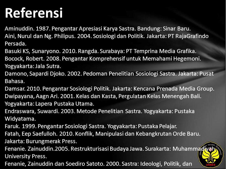 Referensi Aminuddin. 1987. Pengantar Apresiasi Karya Sastra.
