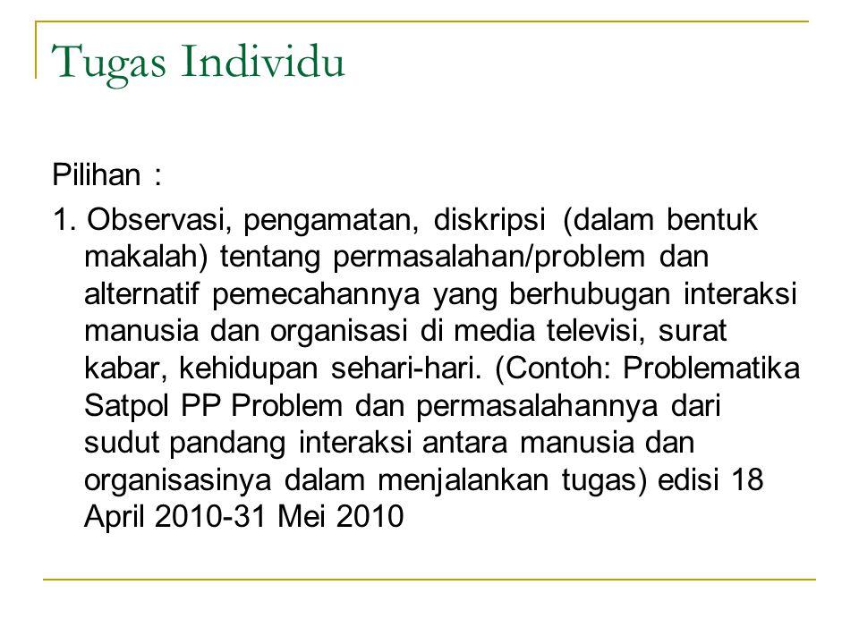 Tugas Individu Pilihan : 1.