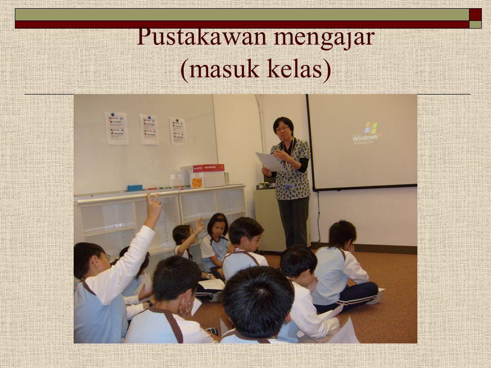 Pustakawan mengajar (masuk kelas)