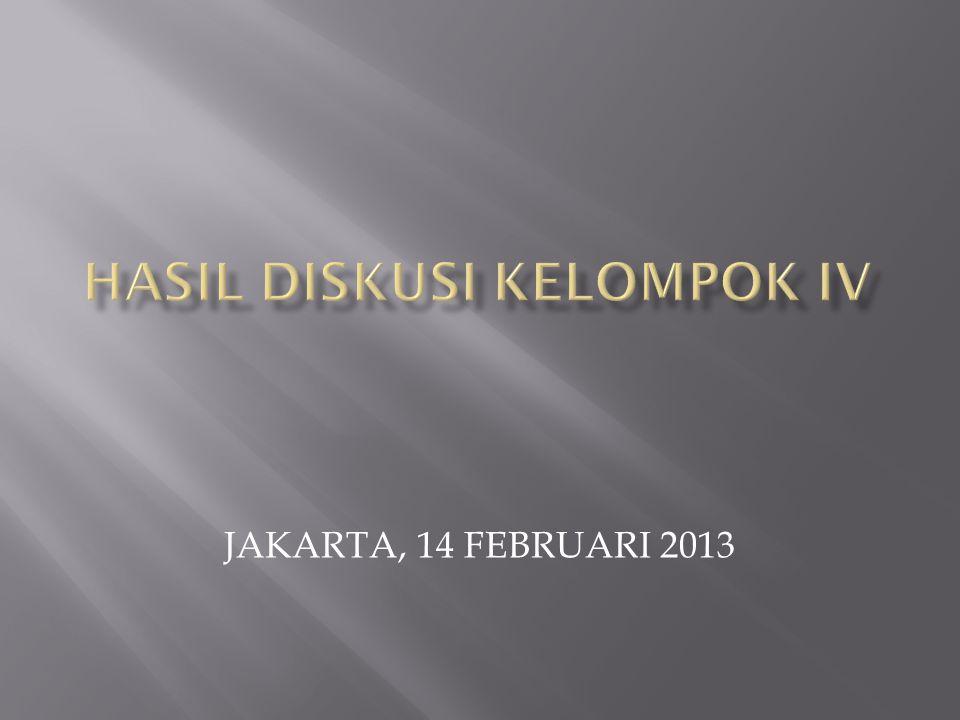 JAKARTA, 14 FEBRUARI 2013