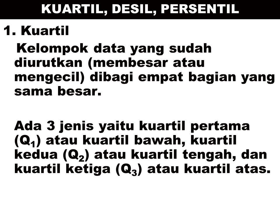 KUARTIL, DESIL, PERSENTIL 1.