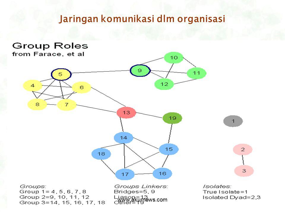 Jaringan komunikasi dlm organisasi www.akurnews.com