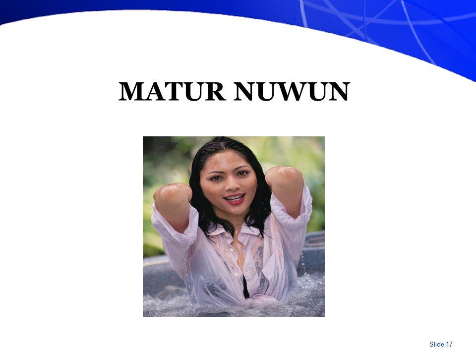 Slide 17 MATUR NUWUN