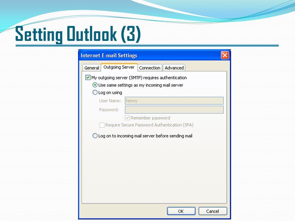 Setting Outlook (3)